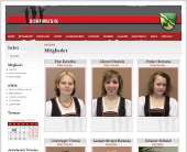 Screenshot Website Dorfmusik Mühldorf